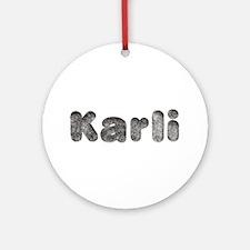 Karli Wolf Round Ornament