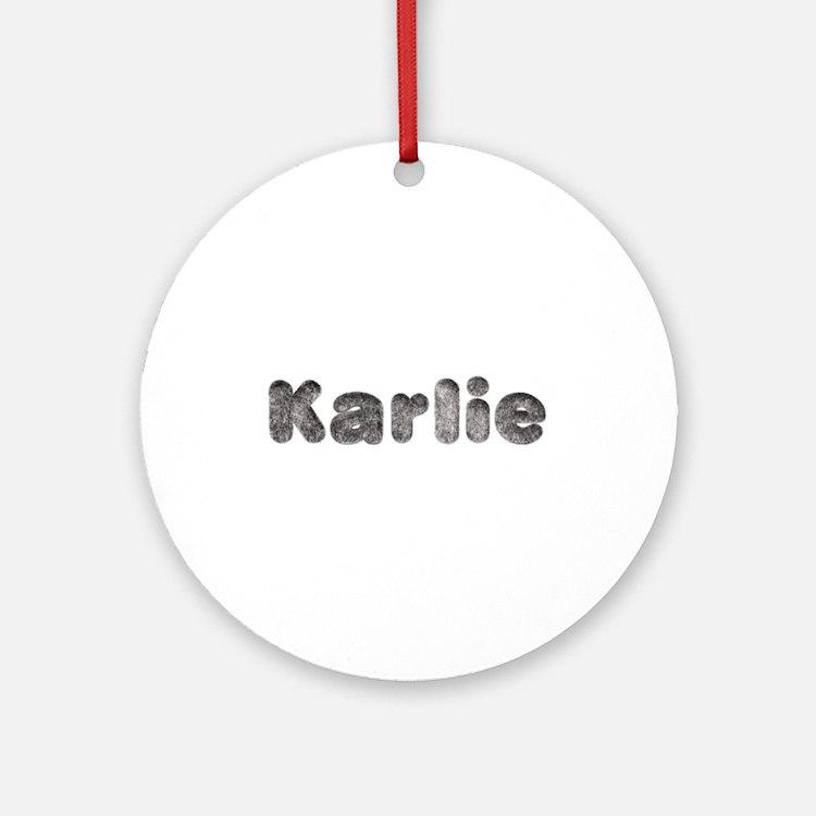 Karlie Wolf Round Ornament