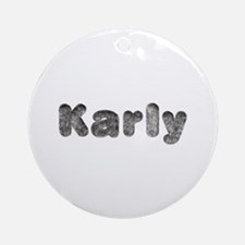 Karly Wolf Round Ornament