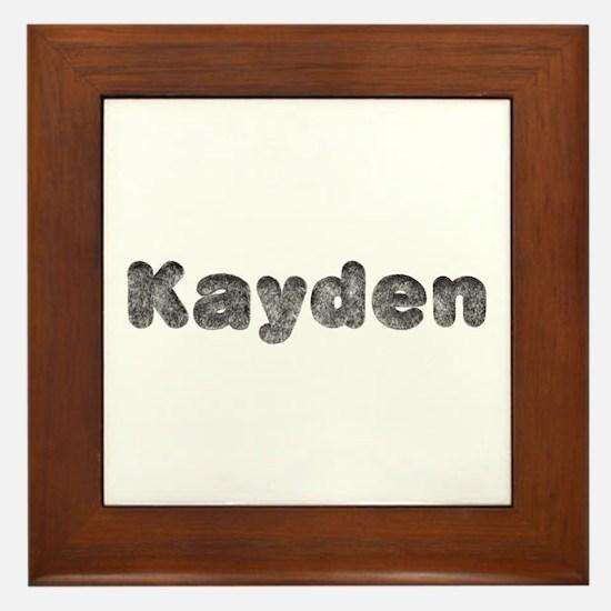 Kayden Wolf Framed Tile