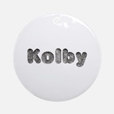 Kolby Wolf Round Ornament