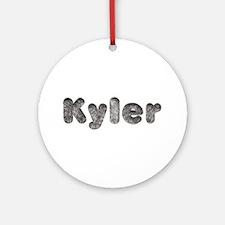 Kyler Wolf Round Ornament