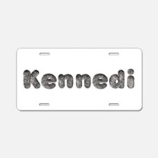 Kennedi Wolf Aluminum License Plate