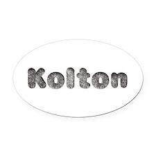 Kolton Wolf Oval Car Magnet