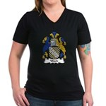 Ward Family Crest Women's V-Neck Dark T-Shirt