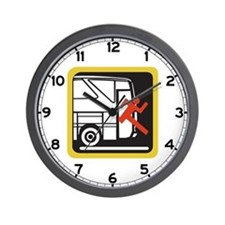 Don't Rush Out of the Bus - Germany Wall Clock