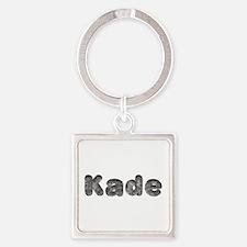 Kade Wolf Square Keychain