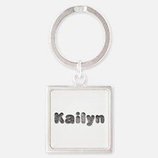 Kailyn Wolf Square Keychain