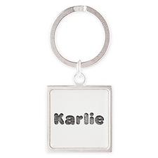 Karlie Wolf Square Keychain