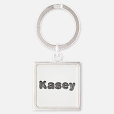 Kasey Wolf Square Keychain