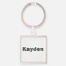 Kayden Wolf Square Keychain