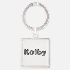 Kolby Wolf Square Keychain