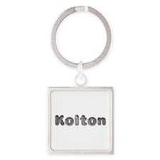 Kolton Wolf Square Keychain