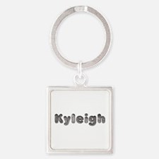 Kyleigh Wolf Square Keychain