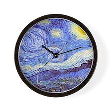 'The Starry Night' Van Gogh Wall Clock