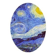 'The Starry Night' Van Gogh Ornament (Oval)