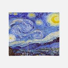 'The Starry Night' Van Gogh Throw Blanket