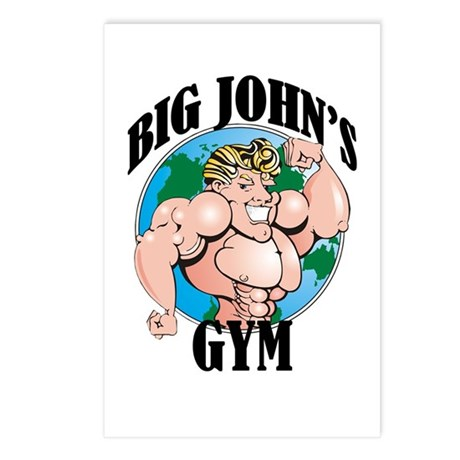 Big John's Gym Postcards (Package of 8)