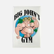 Big John's Gym Rectangle Magnet