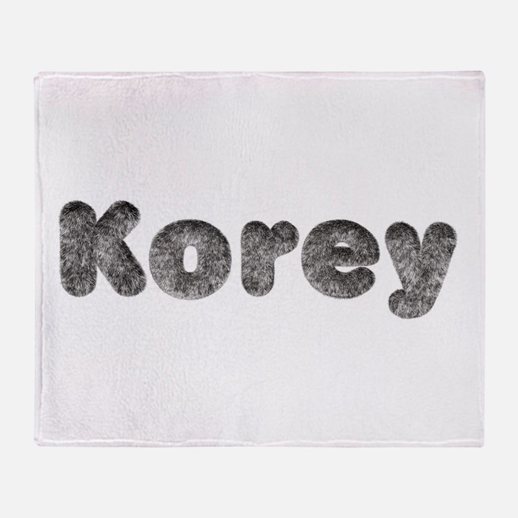 Korey Wolf Throw Blanket