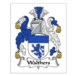 Walthers Family Crest Small Poster