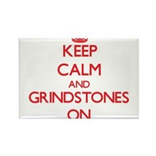 Keep Calm and Grindstones ON Magnets