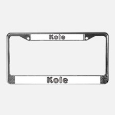 Kole Wolf License Plate Frame
