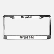 Krystal Wolf License Plate Frame