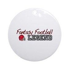 Fantasy Football Legend Ornament (Round)