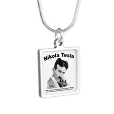 Tesla: Power Silver Square Necklace