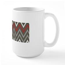 Masculine Gray Chevron Mugs