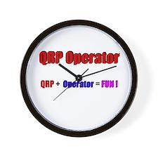 QRP Operator, Wall Clock