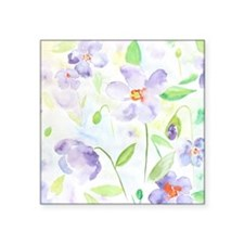 """Watercolor Abstract Flower  Square Sticker 3"""" x 3"""""""