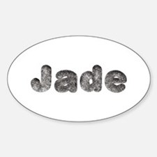 Jade Wolf Oval Decal