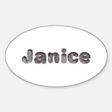 Janice Wolf Oval Decal