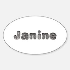 Janine Wolf Oval Decal