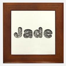 Jade Wolf Framed Tile