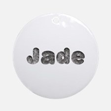 Jade Wolf Round Ornament
