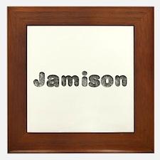 Jamison Wolf Framed Tile