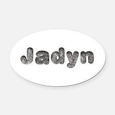 Jadyn Wolf Oval Car Magnet