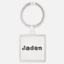 Jaden Wolf Square Keychain