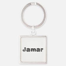 Jamar Wolf Square Keychain