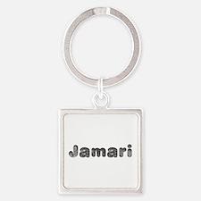 Jamari Wolf Square Keychain