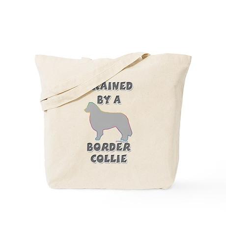 Border Collie Slvr Tote Bag