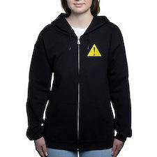 Caution K spoken here Women's Zip Hoodie