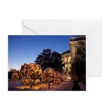 White House Christmas Lawn Decoratio Greeting Card