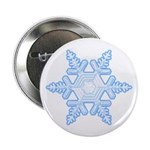 "Flurry Snowflake X 2.25"" Button (100 pack)"