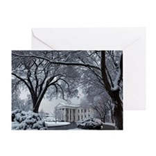 Winter Wonderland White House Greeting Card