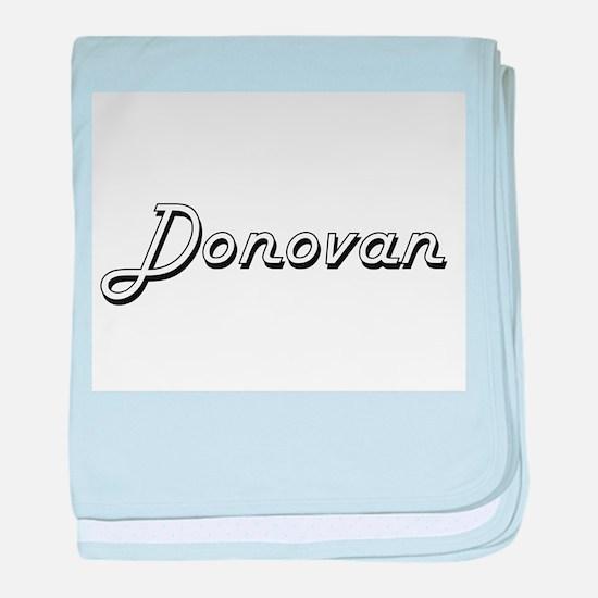 Donovan surname classic design baby blanket
