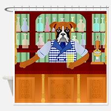 Boxer Dog Beer Pub Shower Curtain